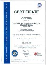 BTH ISO Certicate
